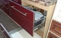 Набор мебели для кухни Алеся бордо