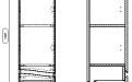 61.11 (10) Шкаф 35 Фиджи с ящиками подвесной L/R